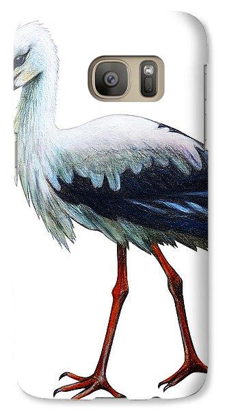 Realistic Galaxy S7 Case - Stork Drawing Ciconia by Viktoriya art