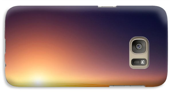 Airplanes Galaxy S7 Case - Sunset Sky Stratosphere Background by Logoboom