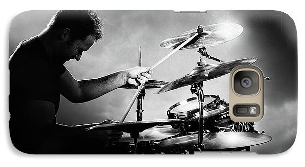 Rock And Roll Galaxy S7 Case - The Drummer by Johan Swanepoel