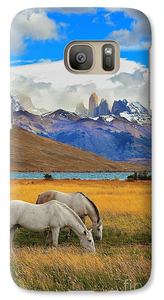 Pasture Galaxy S7 Case - The Landscape In The National Park by Kavram