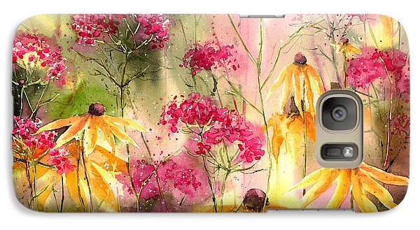 Orchid Galaxy S7 Case - Yellow Ballerinas by Suzann's Art