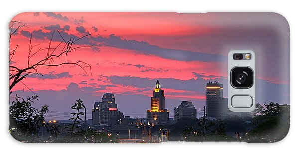 4th Of July Sunset Providence Ri Galaxy Case by Butch Lombardi