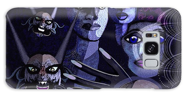 060 -  Paranoia Blues ... Galaxy Case by Irmgard Schoendorf Welch