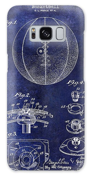 1927 Basketball Patent Drawing Blue Galaxy Case