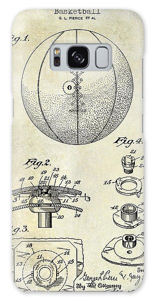 1927 Basketball Patent Drawing Galaxy Case
