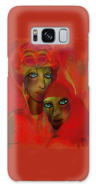 260 - Women In Red ... Galaxy Case by Irmgard Schoendorf Welch