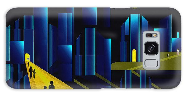 955 -  Moonlit City    Galaxy Case by Irmgard Schoendorf Welch
