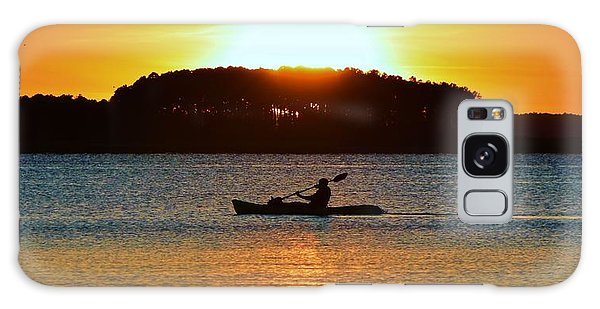 A Reason To Kayak - Summer Sunset Galaxy Case by William Bartholomew