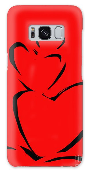 A Stack Of Hearts Galaxy Case by Go Van Kampen