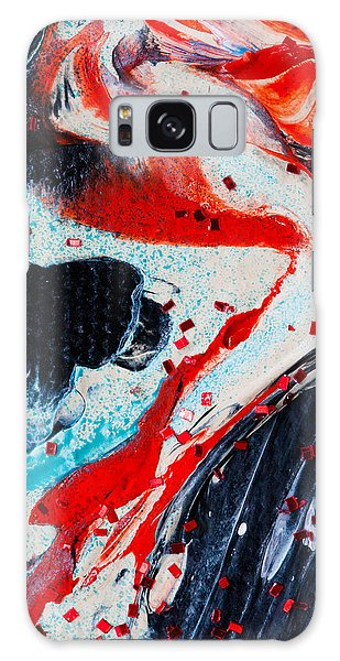 Abstract Original Artwork One Hundred Phoenixes Untitled Number Fifteen Galaxy Case