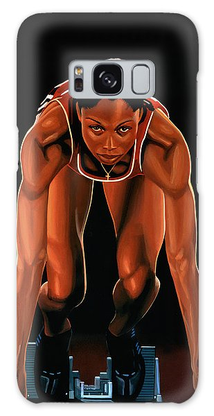 Realistic Galaxy Case -  Allyson Felix Painting  by Paul Meijering