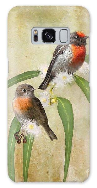 Australian Scarlet Robin Galaxy Case