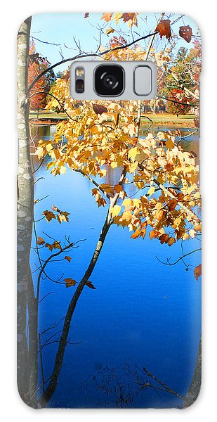 Autumn Trees On The Lake Galaxy Case