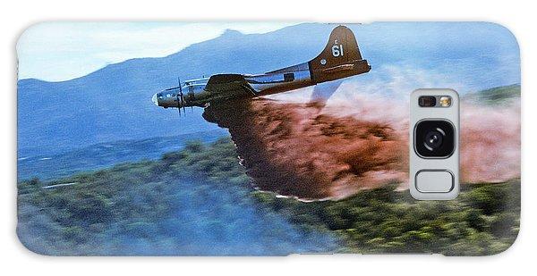 B-17 Air Tanker Dropping Fire Retardant Galaxy Case by Bill Gabbert