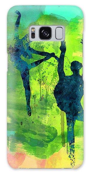 Ballerina Galaxy Case -  Ballet Watercolor 1 by Naxart Studio