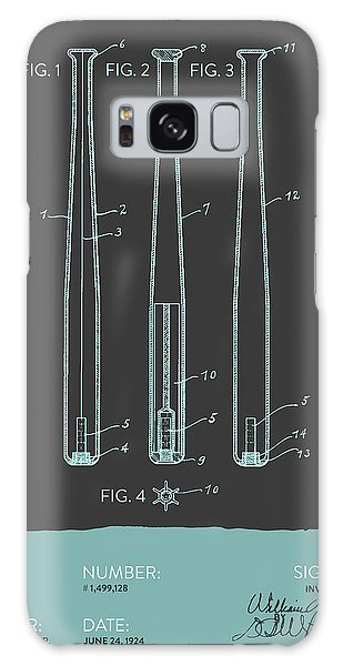Baseball Bats Galaxy S8 Case -  Baseball Bat Patent From 1924 - Gray Blue by Aged Pixel