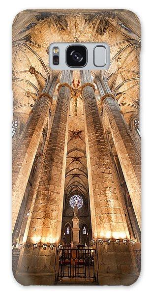 Basilica Of Santa Maria Del Mar In Barcelona Galaxy Case