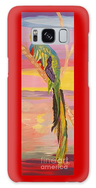 Beautiful Bird Quetzal Must Open  Galaxy Case