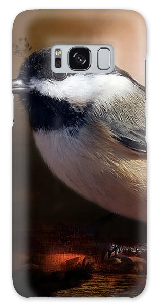 Black Capped Chickadee Galaxy Case by Elaine Manley