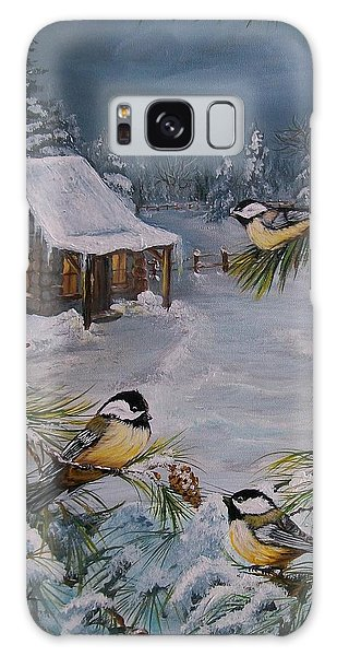 Black Capped   Chickadee's  Galaxy Case
