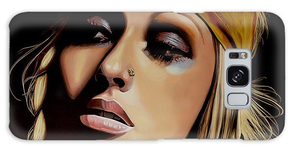 Cd Galaxy Case -  Christina Aguilera Painting by Paul Meijering