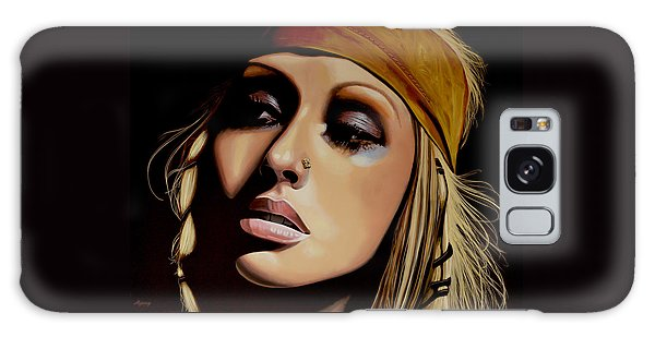 Rhythm And Blues Galaxy S8 Case -  Christina Aguilera Painting by Paul Meijering