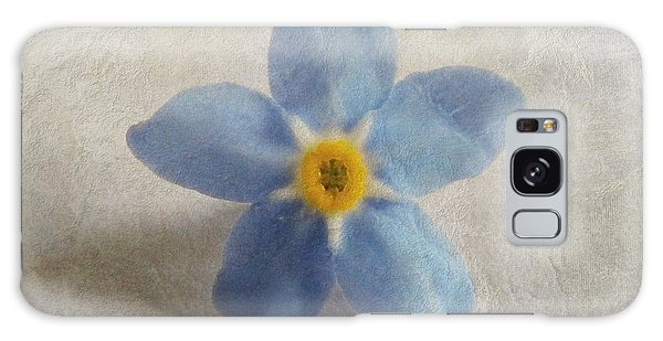 Myosotis 'forget-me-not'- Single Flower Galaxy Case