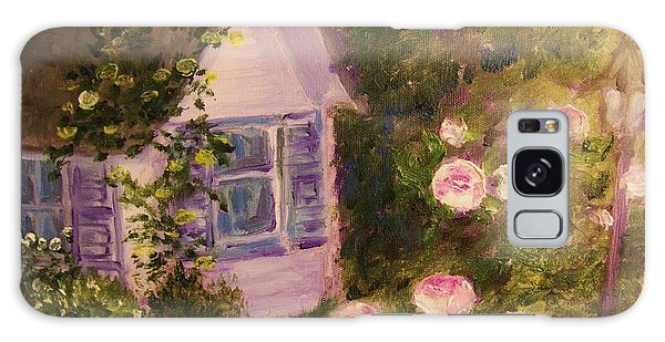 Cottage  In  The  Garden Galaxy Case