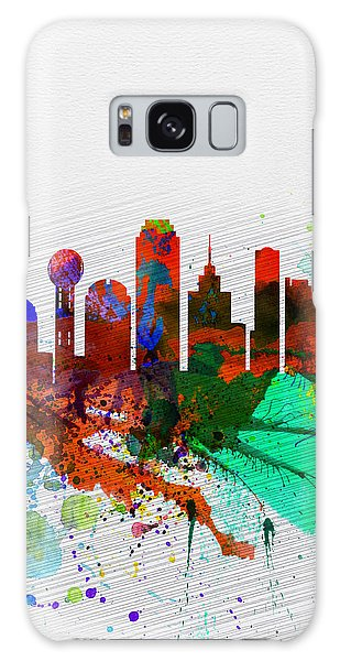 Dallas Galaxy S8 Case -  Dallas Watercolor Skyline by Naxart Studio