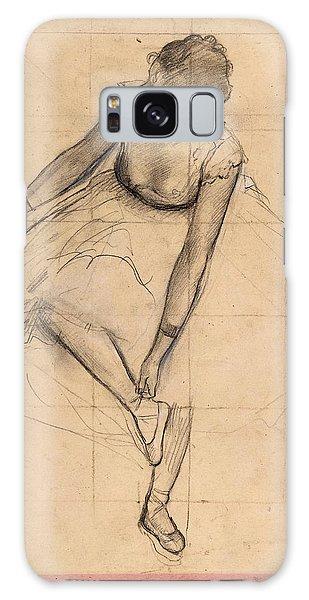 Dancer Adjusting Her Slipper Galaxy Case by Edgar Degas
