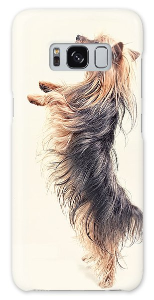 Dancing Yorkshire Terrier Galaxy Case