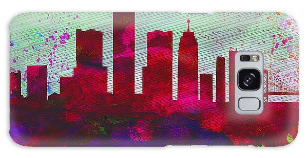 Downtown Galaxy Case -  Detroit City Skyline by Naxart Studio