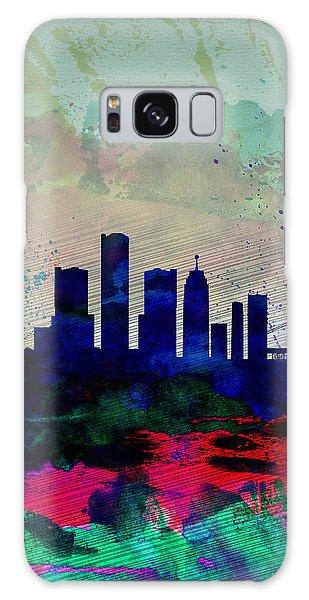 Motor City Galaxy Case -  Detroit Watercolor Skyline by Naxart Studio