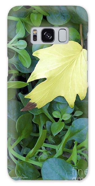 Fallen Yellow Leaf Galaxy Case