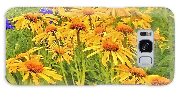 Field Of Fall Flowers Galaxy Case by Marsha Heiken