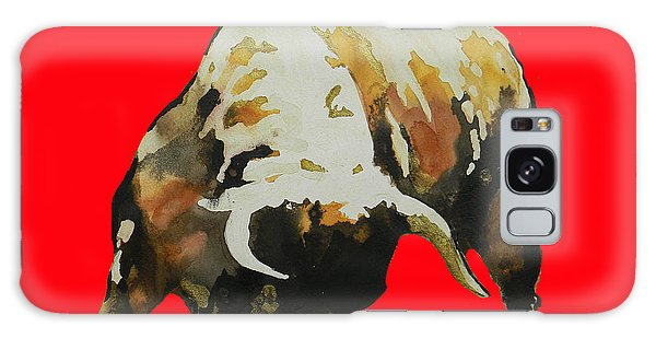 Fight Bull In Red Galaxy Case by J- J- Espinoza