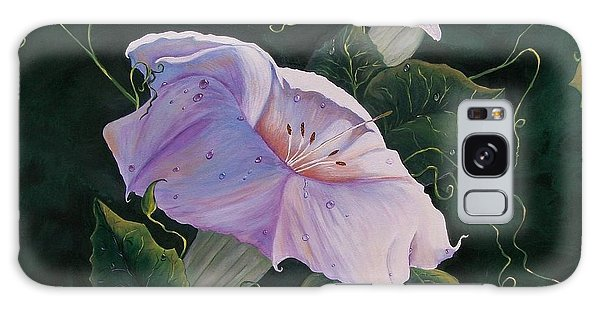 First  Trumpet Flower  Of Summer Galaxy Case