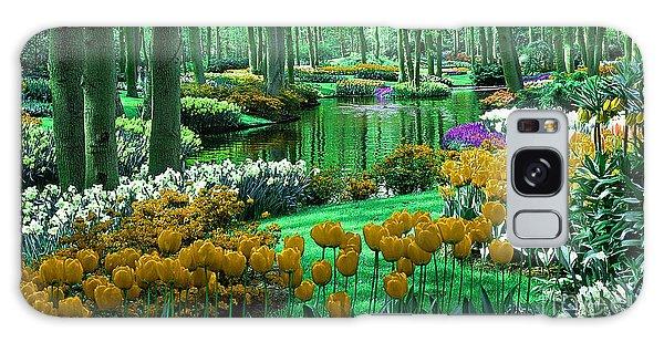 Flower Garden Of Love Galaxy Case