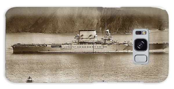 U.s.s. Lexington Cv-2 Fort Point Golden Gate San Francisco Bay California 1928 Galaxy Case by California Views Mr Pat Hathaway Archives