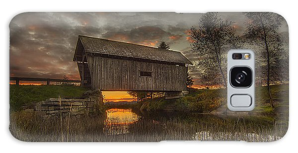 Foster Covered Bridge Sunset Galaxy Case