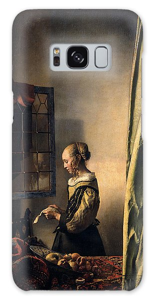 Vermeer Galaxy Case -  Girl Reading A Letter By An Open Window by Johannes Vermeer