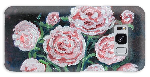 Graceful Peonies Galaxy Case by Elizabeth Robinette Tyndall