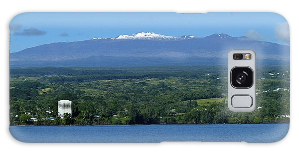 Hawaii's Snow Above Hilo Bay Hawaii Galaxy Case by Lehua Pekelo-Stearns
