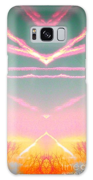 Heavenly  Contrails  Galaxy Case by Karen Newell