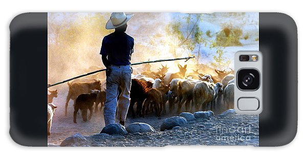 Herder Going Home In Mexico Galaxy Case by Phyllis Kaltenbach