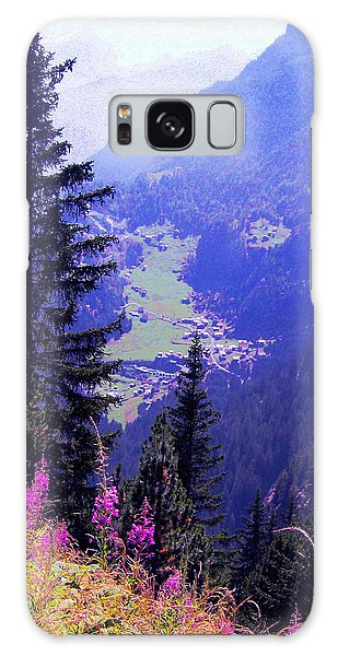 High Mountain Pastures Galaxy Case by Giuseppe Epifani