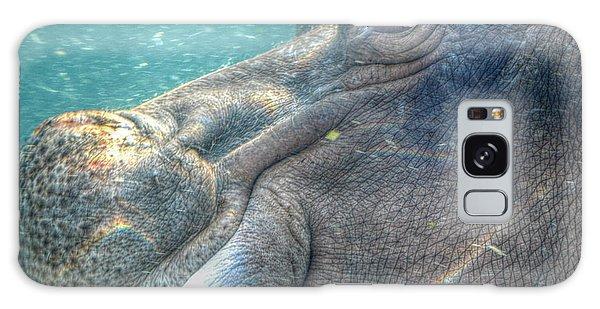 Hippopotamus Smiling Underwater  Galaxy Case