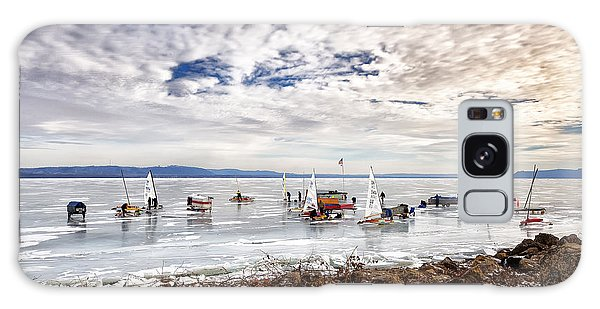 Ice Boats On Lake Pepin Galaxy Case