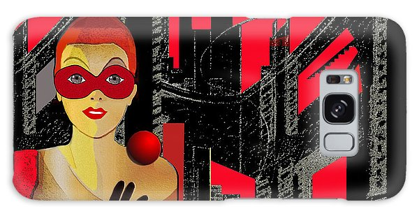 014 - In  Red   City Darkness Galaxy Case by Irmgard Schoendorf Welch