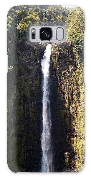 Island Waterfalls Galaxy Case by Athala Carole Bruckner